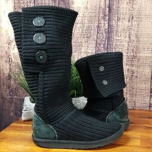 Ugg Cardy Knit Black Boots